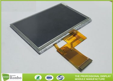 China 4.3 inch Industrial LCD Panel Resolution 480x272 With 4 wiire Resistive Touch Screen supplier