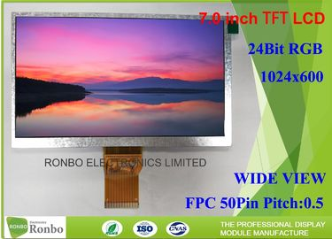 China High Brightness Outdoor Lcd Panel 7 Inch 1024 * 600 Resolution For Outdoor Equipment supplier