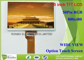 China RGB 50 Pin 7 Inch TFT LCD Display 500cd / M² Brightness Replace Innolux At070tn94 supplier