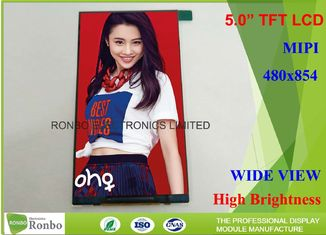 China Thin Thickness and Narrow Wide 5.0 Inch 480x854 TFT LCD Screen supplier