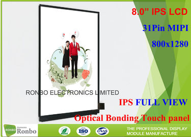 China Customized Thin IPS LCD Display 8.0 Inch With 31 Pin MIPI Interface supplier