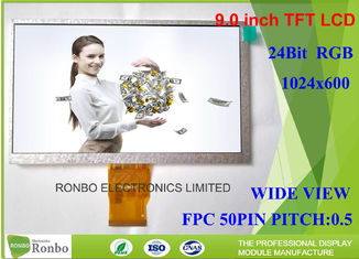 China 3.5mm Thickness 9.0 Inch 1024x600 Tft Lcd Module Display 0.5mm Pin Pitch supplier