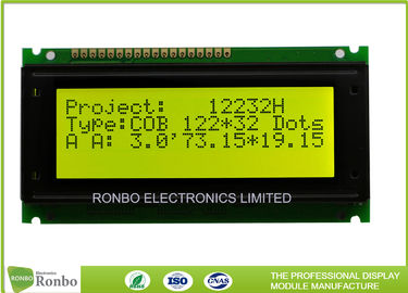 China COB Positive 122x32 Lcd Module , Monochrome Lcd Display Module ROHS Request supplier