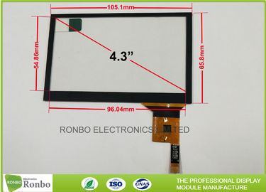 Thin Thickness Projected Capacitive Touch Panel I2C Interface 4.3 inch