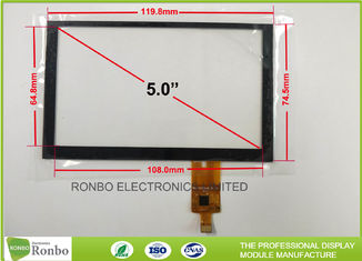 China Tempered Glass G + G Capacitive Touch Panel , 5.0 inch 800x480 Multi Touch Screen supplier
