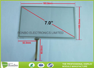 China 7 Inch 4 Wire Resistive Touch Panel 60.0mm FPC Length Long Durability supplier