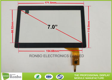 China 7.0 Inch Tempered Glass Projected Capacitive Touch Panel Multi Touch Screen supplier