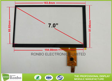 "China Industrial PCT / PCAP Multi Touch Screen Panel Thin Film to Glass Structure 7.0"" IIC Interface supplier"
