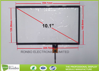 China 10.1 Inch Thin Thickness Projected Capacitive Touch Panel P + G Structure supplier