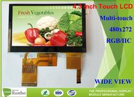 Good Quality TFT LCD Display & Multi Touch Capacitive Lcd Display , 4.3 Inch 480 * 272 Touch Screen Lcd Panel on sale