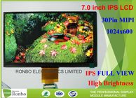 China 7 Inch Tablet Transmissive Lcd Screen , IPS LCD Screen 1024 * 600 Resolution factory