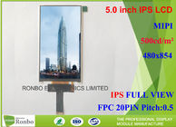 China Customized MIPI Interface IPS LCD Screen , Thin IPS LCD Panel FWVGA 5.0 Inch 480 * 854 factory