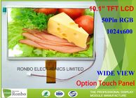 China Customized 10.1 Inch TFT LCD Display 5.1mm Thickness 1024 * 600 Resolution company