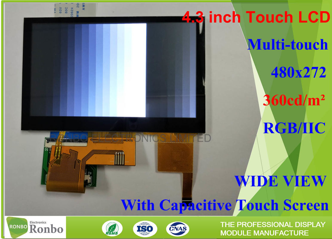 43 Inch 480x272 Industrial Lcd Module Bonding Capacitive Touch Screen With Eeti Controller Buy Resistive Screentouch Panel For Digital Product