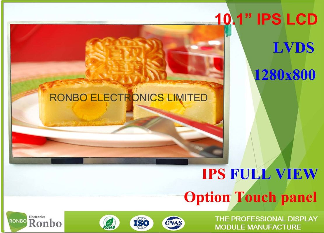 High Luminance 10 1 Inch IPS LCD Display With 40 Pin LVDS