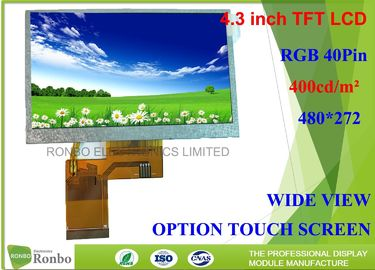 China 4.3 Inch 480*272 RGB 40Pin Industrial LCD Panel Replace Innolux AT043TN24 factory