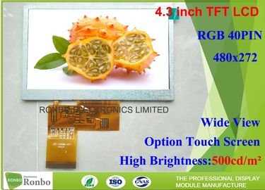 China High Brightness LCD Module 4.3 inch 480x272 Industrial LCD Panel Replace Innolux AT043TN25 factory