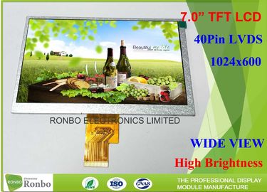 "China High Brightness Industrial Lcd Display , 7"" 40 Pin Lcd Panel 1024 * 600 N070LGE - L41 distributor"