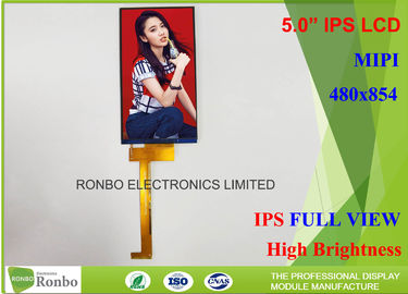 China MIPI sunlight readable lcd display , 5 inch 480 x 854 TFT high brightness screen distributor