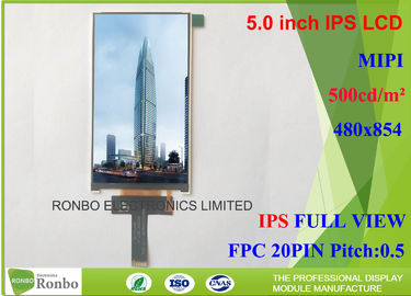 China Customized MIPI Interface IPS LCD Screen , Thin IPS LCD Panel FWVGA 5.0 Inch 480 * 854 distributor