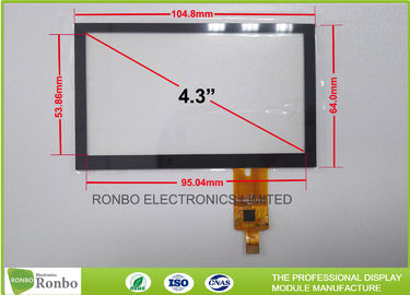 China 4.3 Inch Capacitive Touchscreen P + G Structure Multi Touch With I2C Interface factory