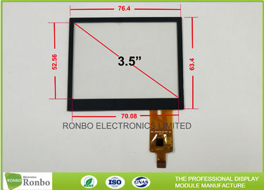 China 3.5 Inch Projected Capacitive Touch Screen , 320x240 Multi Point Touch Screen distributor