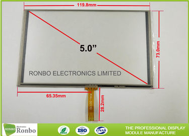China ITO Glass Resistive Touch Panel 5 Inch 111.4 X 67.9mm Viewing Area distributor