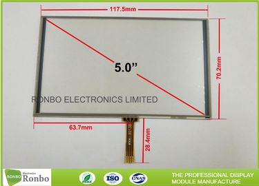 China Anti - Glare Lcd Touch Panel , 5 Inch Industrial Touch Panel 1.2mm Total Thickness factory