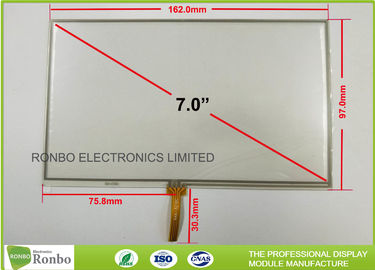 China 7.0 Inch 4 Wire RTP Resistive Touch Panel 1.2mm Thickness High Accuracy factory