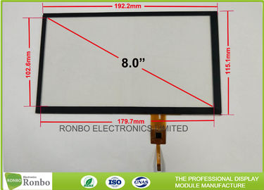 China Touch Screen Projected Capacitive Touch Panel 8.0 Inch High Transmission Controller GT911 distributor