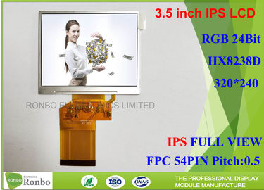 China 320 * 240 Resolution 3.5 Inch LCD Screen , IPS Touchscreen Display Transmissive Type distributor