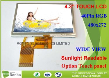 China TFT LCD Sunlight Readable Outdoor Display , 4.3 Inch Sunlight Readable Lcd Module 480 * 272 factory