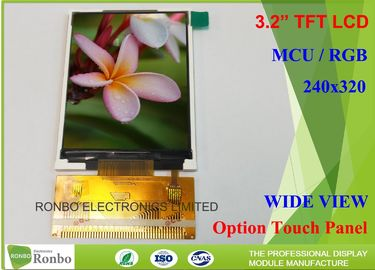 China Customizable LCD Screen 3.2 Inch 240x320 TFT LCD Display Option Touch Panel distributor