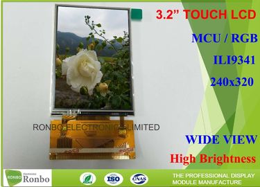 China Customized 3.2 Inch Lcd Screen MCU / RGB Interface With Resistive Touch Panel factory
