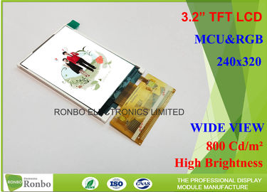 "China Outdoor Sun Readable Lcd Display , 3.2"" 240 x 320 High Resolution Lcd Display distributor"