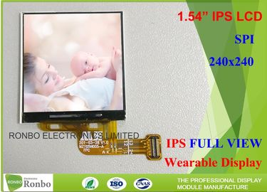 China 1.54 Inch Smart Watch Lcd Display , 240 X 240 Ips Lcd Screen High Brightness distributor