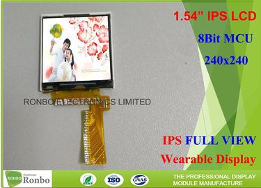 China Thin Smart Watch IPS Small LCD Screen 1.54 Inch 240 * 240 MCU Interface distributor
