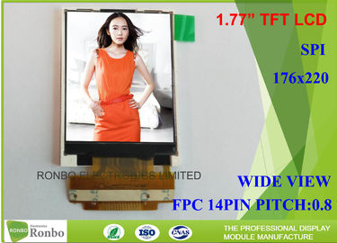 China 1.77 Inch 128 * 160 Small LCD Screen Transmissive Type SPI Interface TM018FDZ83 distributor