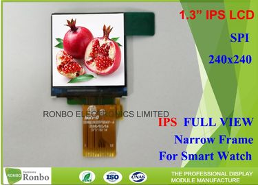 China Thin Wearable Square IPS LCD Display 1.3 Inch 240x240 300cd/m² Brightness Durable distributor