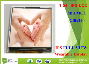 "China 220cd/m² Wearable IPS LCD Display 1.54"" 240*240 Durable With 8 Bit MCU Interface factory"