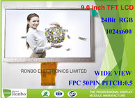 3.5mm Thickness 9.0 Inch 1024x600 Tft Lcd Module Display 0.5mm Pin Pitch