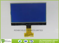 Blue Negative 256 x 128 Graphic COG LCD Module White LED Backlight With 8080 Interface