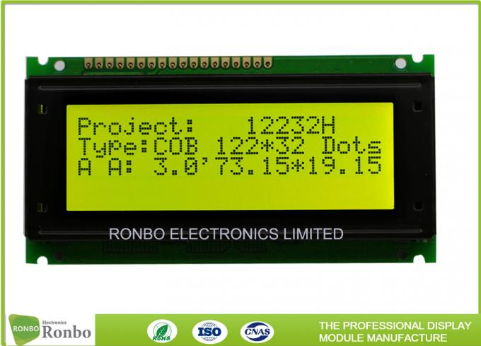 COB Positive 122x32 Lcd Module , Monochrome Lcd Display Module ROHS Request
